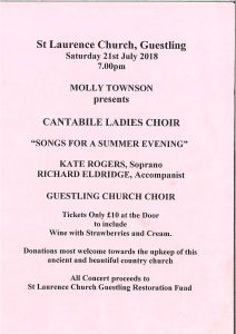 Cantabile Ladies Choir - Songs for a Summers Evening @ Guestling Church