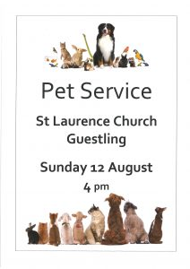 Pet Service - St Laurence , Guestling @ St Laurence Church Guestling